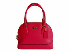 Coach Crossgrain Leather Cora Domed Satchel in Pink Ruby - F33909