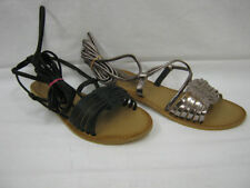 Leather Lace Up Casual Sandals & Flip Flops for Women