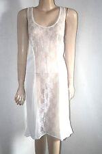 Original 50er Jahre Perlon Glanz chic Unterrock Unterkleid Pin-Up Weiß Gr. 50