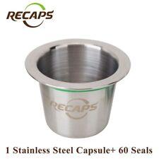 Modèle en acier inoxydable réutilisable compatibles Nespresso capsule capsule & 60 phoques