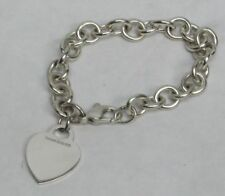 AUTHENTIC TIFFANY & CO STERLING SILVER CLASSIC HEART TAG CHARM BRACELET