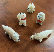 5 Small Various Animal Figurines – made from Shells 1� - 1 1/2�