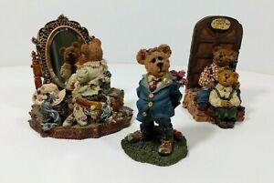 Boyds Bear Figurine Lot Same Age Inside, Two Hearts Make a Home Bearing you Rose