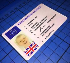 Kids Driving Licence For 6v 12v Volt Ride On Car Bike Accessory ICE ID Card Wld