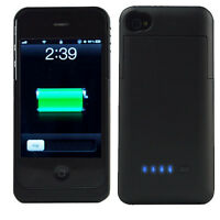 2500mAh Backup External Battery Power Bank Case Cover Charger for iPhone 4 4G 4S