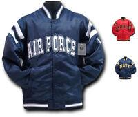 Rapid Dominance Satin Military Coach`s Jacket Hoodie Navy Air Force Army Marines