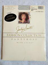 Vintage Pantyhose Silky Sheer Satin Shimmer Jaclyn Smith Sz S/M Grey Control Top