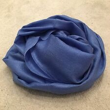 Powder Blue Pashmina Silk Shawl Scarf Wrap Summer Handmade Gift Fine Knit Wool