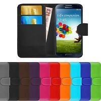 Premium Luxury Leather Flip Wallet Book Case Cover For Samsung Galaxy S4