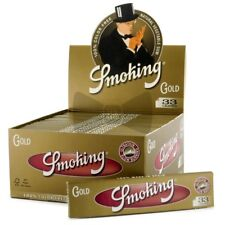 SMOKING GOLD King Size Rolling Papers Vegetable Gum Cigarette Paper Rizla Roach