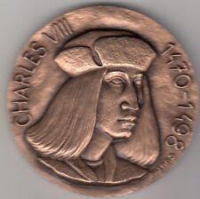 Médaille Française en bronze MDP Charles VIII 1470-1498 Amboise