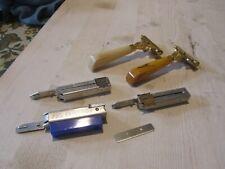 Vintage Schick Eversharp Injector Razors w/ Bakelite Handles + Blades & Holders