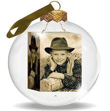 Weihnachtskugel mit Deinem persönlichen FOTO bedruckt. Christbaumkugel aus Glas