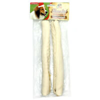 "Natural Rawhide Roll Dog Chew Treats Bones 10"" by XPet - 2 pack NEW"