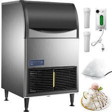 Vevor Flake Snow Countertop 220lbs24h Crusher Ice Maker Machine Stainless Steel