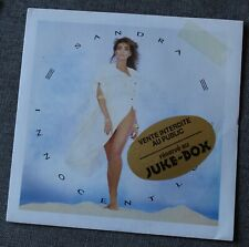 Sandra, innocent love / innocent theme, SP - 45 tours juke box France