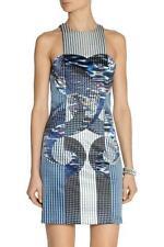 Short Geometric 100% Silk Dresses for Women