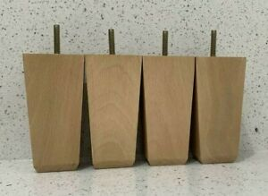 """4x Wooden Furniture Feet Legs For Sofa, Beds, Chairs, Stools, Table """"DARK OAK"""""""