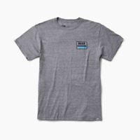 REEF Men's Sunsetter Tee T-Shirt Heather Grey Sizes S M L XL XXL