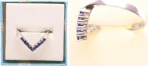 Ring, White Gold 585, With Sapphire, 2,4g, Ring Size 57 58465