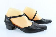 SAN MARINA Chaussures ouvertes Petit Talon Cuir Noir UK 4 / FR 37