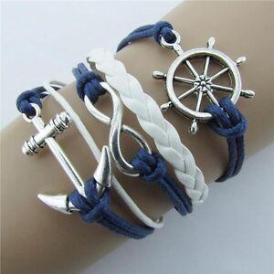 New -Cute Friendship Bracelet Anchor Fashion Leather Bracelet [22]
