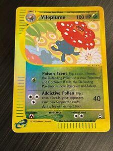 Vileplume 43/147 Rare Reverse Holo Pokemon Card. Aquapolis. Light Play.
