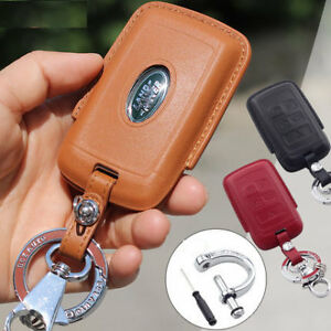 18 Genuine Leather key cover case remote holder Land Range Rover Sport Discovery