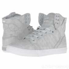 Supra Skytop Washed Grey/White Size 10.5 Men's Shoes