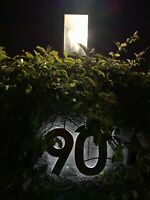 LED House Number Brushed Stainless Steel Building House Made to Order