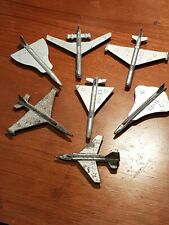 COMPLETE 7pc Soviet USSR 1960s Cold War Military Aircraft Pewter/Tin Plane Set