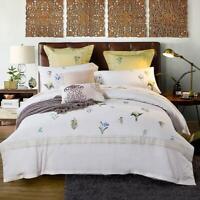 3D Elegant White Flowers Bedroom KEP839 Bed Pillowcases Quilt Duvet Cover Kay