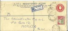 Basutoland Registered Postal Envelope HG:C5a uprated SG#72 ROMA MISSION