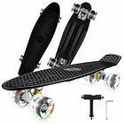 Skateboards Complete 22In Mini Retro Skateboard w/PU Wheel for Kids/Beginners US