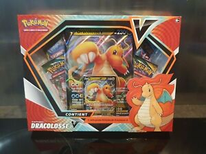 Coffret cartes Pokemon Dracolosse V Epée booster FR rare 4 booster lot jumbo