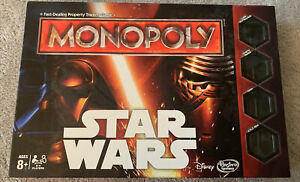 Monopoly STAR WARS DISNEY HASBRO 2015. OPENED BUT ITEMS SEALED, UNPLAYED..