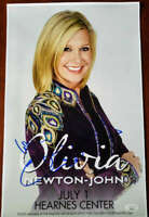 Olivia Newton John JSA Coa Hand Signed 11x17 Concert Poster Autograph