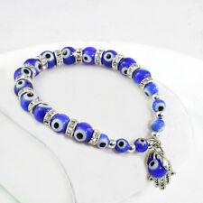 New Design Stretchy Evil Eye Amulet Bracelet with Hamsa Hand Charm