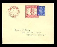 CZECHOSLOVAKIA WW2 FIELD POST on GB 1943 PROCLAMATION of REPUBLIC to GEORGE KING