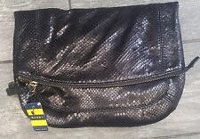 NWT Ralph Lauren Polo Rugby Leather Python Clutch Bag Retail $198 100% authentic