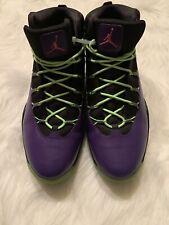 Nike Jordan Prime Flight Bel Air Black Purple Lime Pink DS Air Sz 12