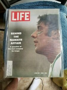 6/20/69 LIFE MAGAZINE WITH JOE NAMATH NEW YORK JETS                   GROBEE1957