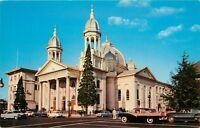 St Josephs Church San Jose California CA old cars Postcard