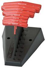 """8pc Set T-Handle 6"""" Length Hex End ProGuard (2 - 10mm) w/Stand Bondhus USA 15289"""