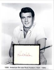 Rock Hudson Autograph Actor Giant Magnificent Obsession McMillan Wife Dynasty #2