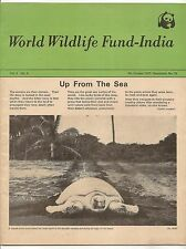 WWF World Wildlife Fund India 1981 4th quarter issue Sea Turtles Brown Pelican