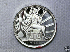 Daniel Carr - 2010 D - 20 AMEROS UNA - Seated Liberty - Proof-Like Silver Round
