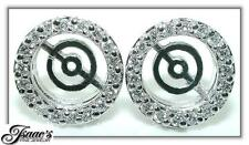 .75Ct TAPERED Diamond Earring JACKETS For 7- 8.5mm Stud