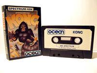RETRO --  SPECTRUM 48K -- CASSETTE GAME -- KONG -- 48K GAME