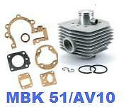 Cylindre Piston + joints pr Motobécane MBK 51 AV10 NEUF